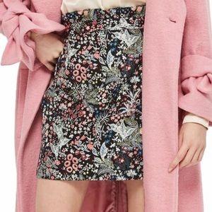 Topshop woodland jacquard skirt size 10US